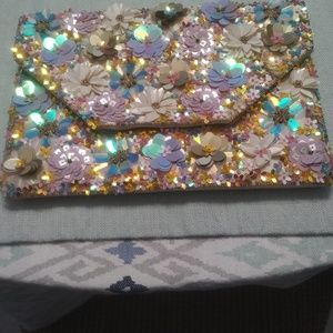 Beautifully Beaded Evening Clutch Purse